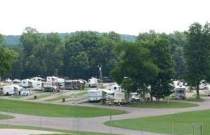 The campground at Beech Bend, modern amenities!
